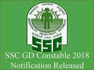 SSC GD CONSTABLE 2018 RECRUITMENT