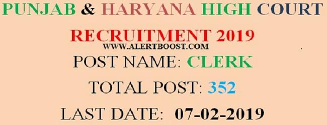 PUNJAB & HARYANA RECRUITMENT 2019